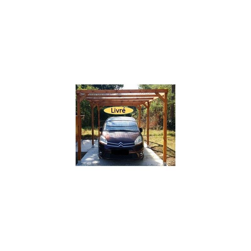 Carport bois 3x 5m noncouvert