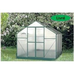 Serre jardin structure alu couleur verte 7,08 m2
