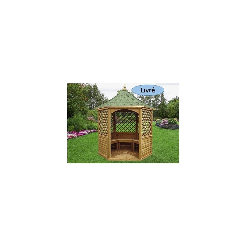 Pavillon hexagonal élégant 7,30 m2