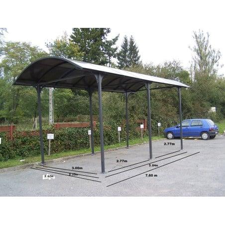 Abri camping car en aluminium 3,59 x 7,62 m couleur anthracite