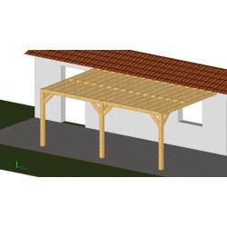 Ossature PLAZA 4x5.5m