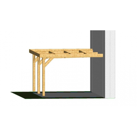 Ossature PLAZA 5x5.5m