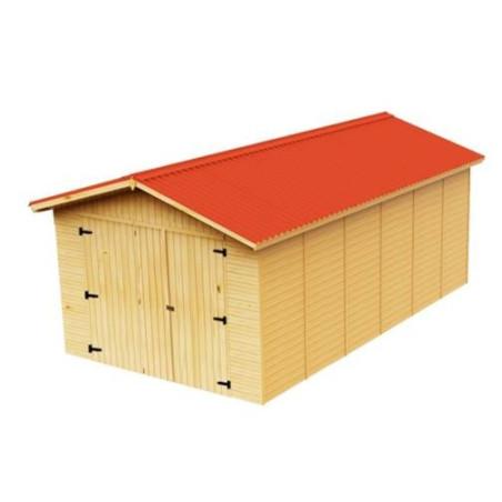 Garage prefabriqué bois  Dimensions 2,8 x 4,8 m