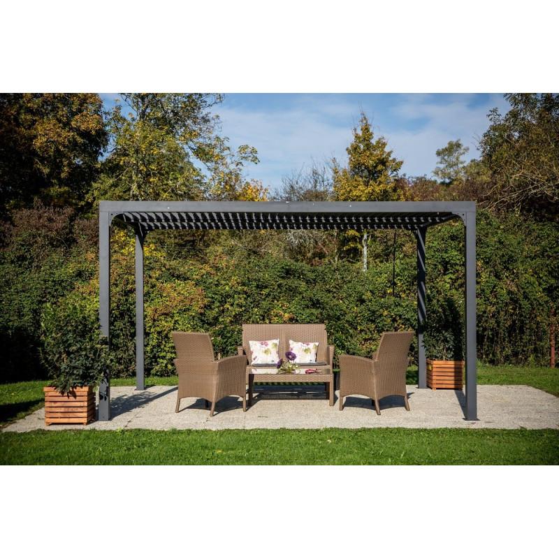 pergola bioclimatique. Black Bedroom Furniture Sets. Home Design Ideas