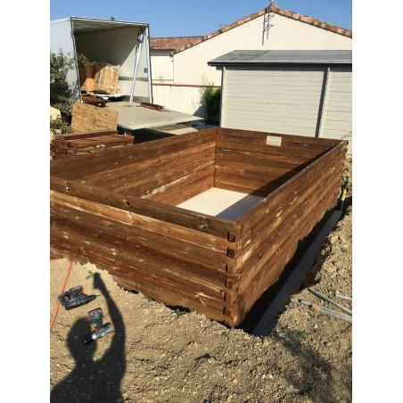 Piscine bois rectangulaire 800