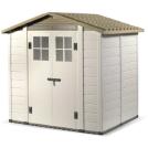 Abri résine grosse épaisseur 22 mm toit bi-pente 3,98 m2