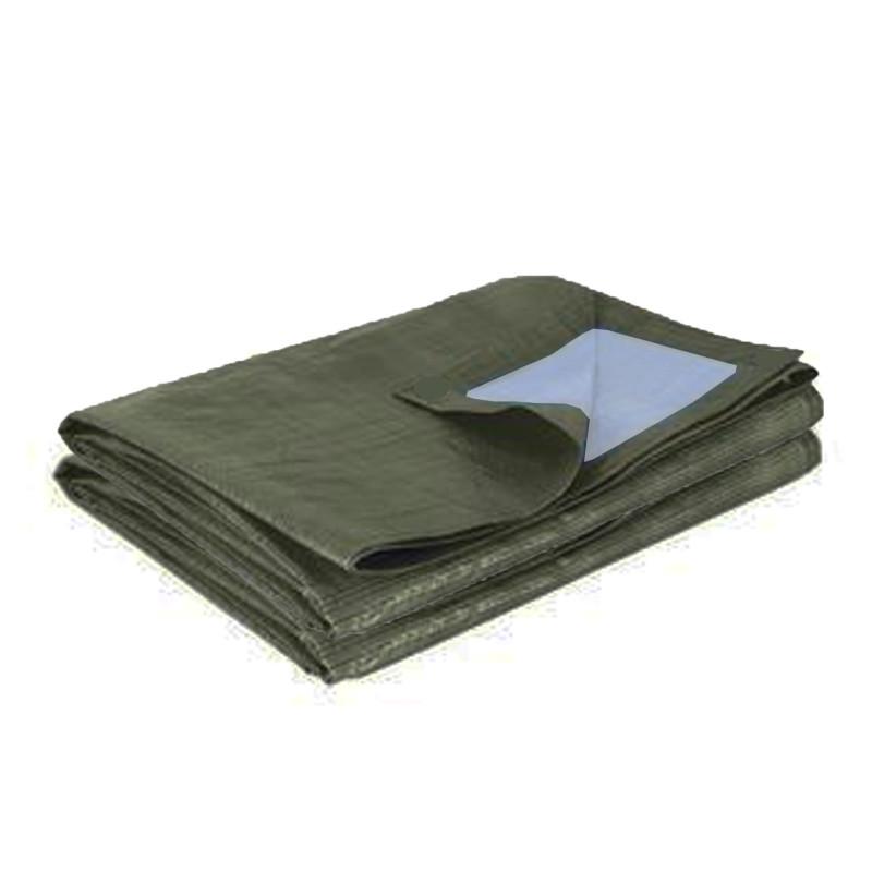 Bâche de protection bicolore vert foncé 195 gr/m2 pour AT 3030