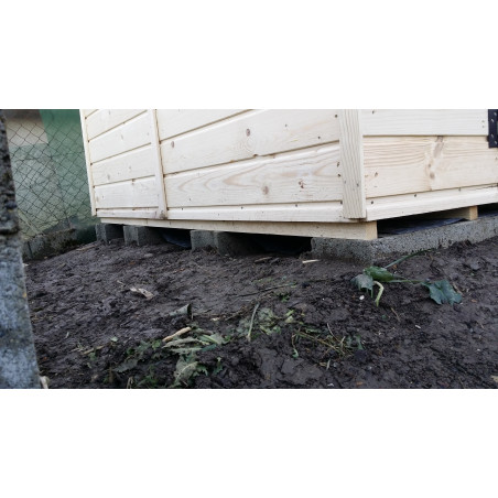 abri de jardin bois eden 2.4x1.6m
