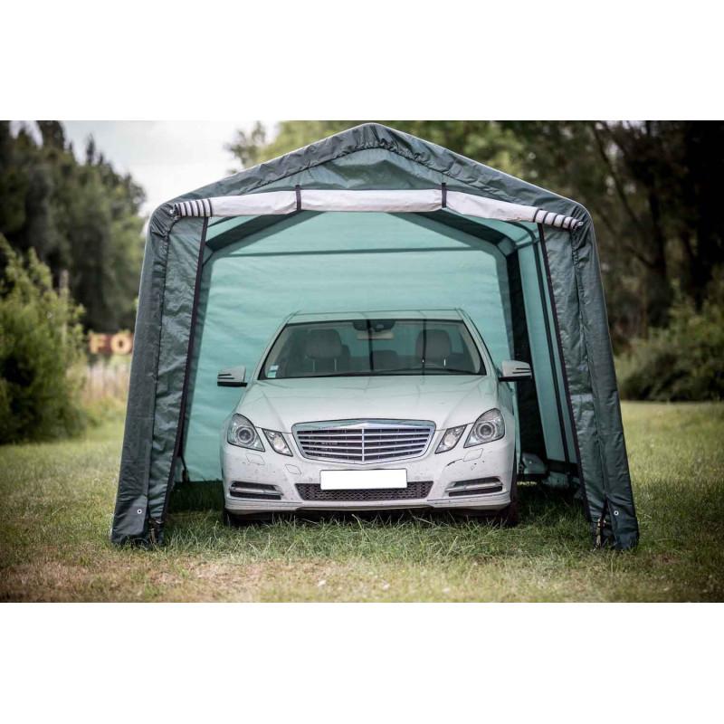 Abri voiture toile 3x6m for Garage de jardin pour voiture