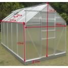 Serre jardin structure alu 5,92 m2